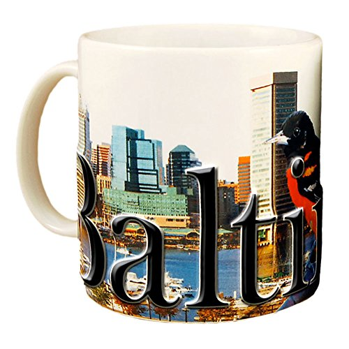 Americaware SMBAL01 Baltimore 18 oz Full Color Relief Mug (Best Day Trips From Baltimore)