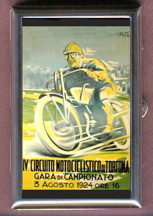 MOTORCYCLE RACE 1924 POSTER Coin, Mint or Pill Box: Made in (1924 Poster)