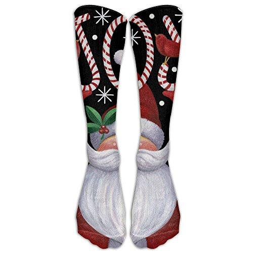 Field Santa Claus Joy Unisex Tube Socks Knee High Sports Crew Fashion Novelty Crew Fashion Novelty Socks Underwear Tube Socks Knee High Sports (6 Foot Wax Wood)