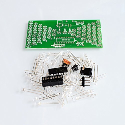 - TH-ELECCOMPO 5V Electronic Hourglass DIY Kit Funny Electric Production Kits Precise with LED Lamps Double Layer PCB Board 8440mm