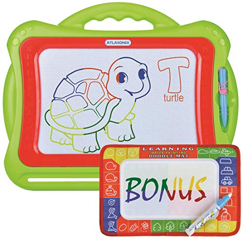 (Large Magnetic Drawing Board for Kids and Toddlers | Colorful Erasable Magna Doodle Pad Plus Magic Aqua doodle | Educational Toy Kids Learn To Write and Draw | for All Ages - Girls and Boys       )