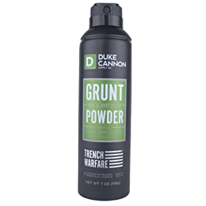 Duke Cannon Supply Co. Grunt Foot & Boot Powder Spray for Men, 7oz / Paraben-Free