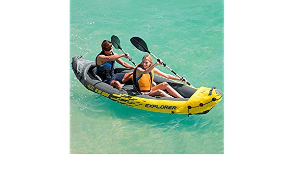 Intex Kayak Canoa hinchable Explorer K2 2 plazas: Amazon.es: Jardín