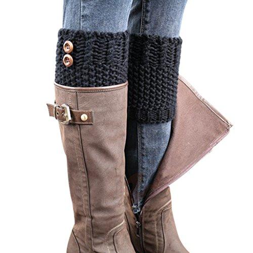 BeautyIn-Womens-Short-Crochet-Leg-Warmers-Knitted-Buttons-Socks-Boot-Cuffs
