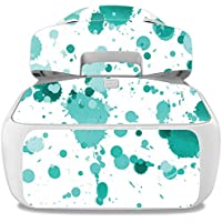 Skin For DJI Goggles – Teal Splatter | MightySkins Protective, Durable, and Unique Vinyl Decal wrap cover | Easy To Apply, Remove, and Change Styles | Made in the USA