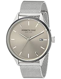 Kenneth Cole New York Men's 'Classic' Quartz Stainless Steel Dress Watch, Color:Silver-Toned (Model: 10030838)