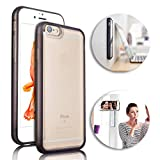 Anti-Gravity Selfie Case for iPhone 6S Plus/ 6 Plus,Vandot Ultra Slim Hands Free Nano-suction Technology Phone Case Cover Magical Nano Sticky Can Stick to Glass, Tile, Car GPS, Most Smooth Surface (Brown 5.5 inch)