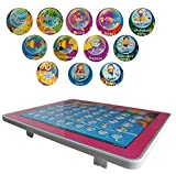 XHAIZ English and Arabic Children's Toy Computer Tablet w/ 4 Modes, Volume and On/Off Buttons, Learn & Play, Lights & Sounds (Pink)