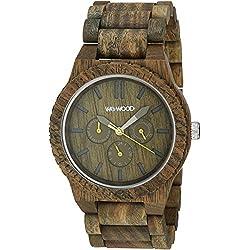 WeWood Men's Kappa Army Wooden Watch