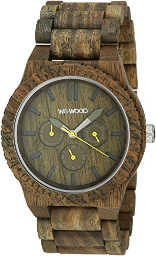 WeWood Men's Kappa Army Wooden Watch