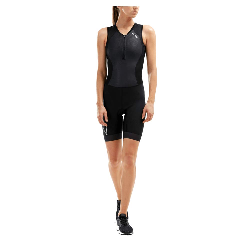 2XU Women's Compression Trisuit (Black/Black, Small)