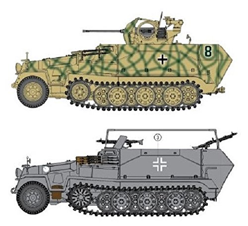 Dragon Models 1/35 Sd.Kfz. 251/17 Ausf.C/Command Version Vehicle Model Building Kit from Dragon Models USA