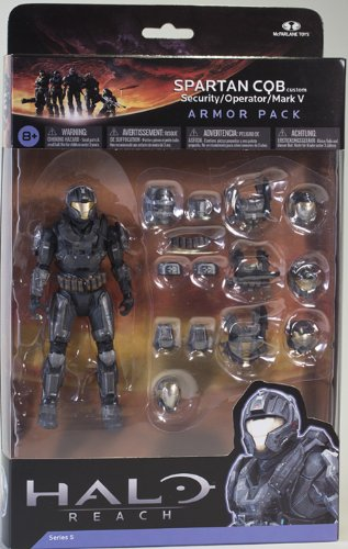 Halo Reach Series 5 6 Inch Scale Spartan CQB Custom & 3 Sets Of Armor - Steel Action Figure Armor (Halo Reach Security Chest)