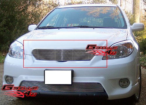 Toyota Matrix Billet Grille - APS T85426A Polished Aluminum Billet Grille Replacement for select Toyota Matrix Models
