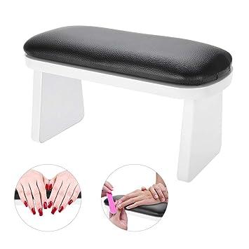 Soporte para brazos-Nail Art Leather Manicure Resto de las manos Cojín Mesa de escritorio Estación para el descanso para brazos Manicure Salon (Color ...