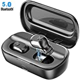 Wireless Earbuds, GUSGU Bluetooth 5.0 True Wireless Earbuds with Microphone Sport Mini Bluetooth Wireless Earbuds with Charging Case Compatible for iPhone Android