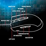 ENHANCE LED PC Gaming Mouse Programmable 8 Button