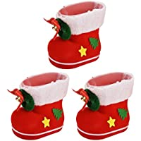 3-Pcs Christmas Decorations Coxeer Candy Bags