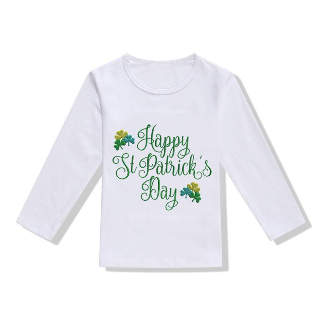 LEXUPE Kleinkind Baby M/ädchen Jungen St.Patricks Day T Shirt Irischer Nationalfeiertag Tops Bluse