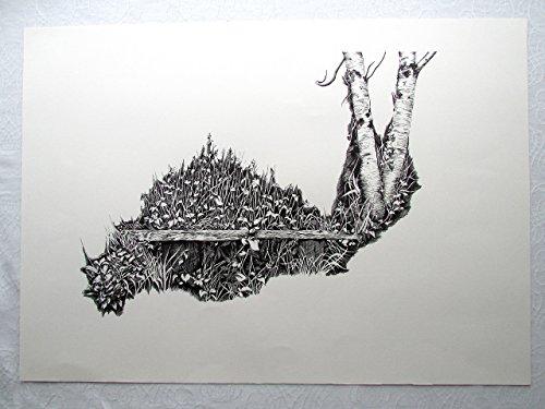 rest - Original Pen on Paper Drawing (59.4 cm x 42 cm) by Ati's Original Art