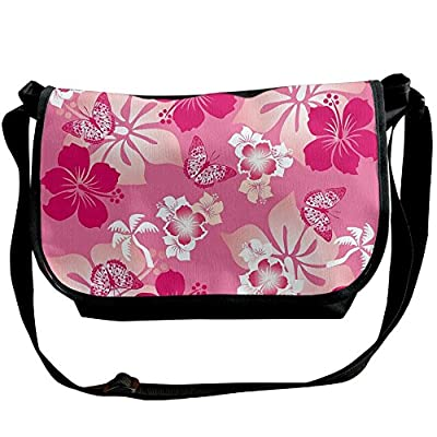 1941b85220 durable service Lovebbag Abstract Hibiscus Pattern Dreamlike Fantasy  Composition With Butterflies Decorative Crossbody Messenger Bag