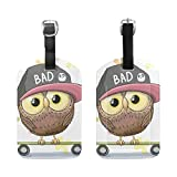 LEISISI Cartoon Owl Travel Luggage Tags Suitcase Luggage Bag Tags, Travel ID Bag Tag Airlines Baggage Labels 1pcs
