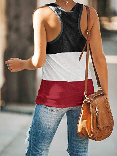 Casual Block Tank Top