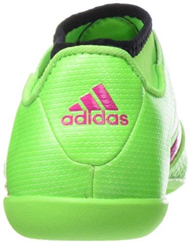 adidas Unisex Baby Ace 16.3 Primemesh in J Fußballschuhe Grün / Pink / Schwarz (Versol / Rosimp / Negbas)
