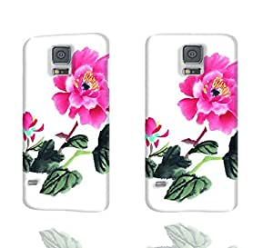 Butterfly and Bloosom Peony 3D Rough Case Skin, fashion design image custom, durable hard 3D case cover, Case New Design for Samsung Galaxy S5 I9600 , By Codystore