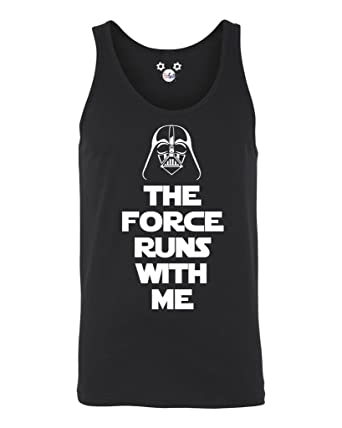 8d2be8a0c6ff22 DisGear Star Wars The Force Runs with Me Graphic Men s Tank