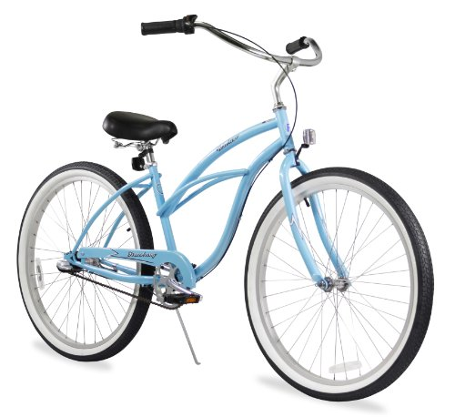 Firmstrong Urban Lady Three Speed Beach Cruiser Bicycle, 24-Inch, Baby Blue