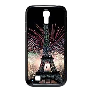 Eiffel Tower Series Stand Wallet Leather Case with Credit ID Card Slots Fit For SamSung Galaxy S4 Case GHLR-T398315