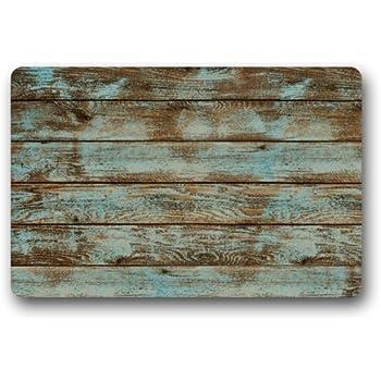 Beautiful Rustic Old Barn Wood Floor Mats Living Room Doormat Indoor With Anti Slip  Backing 23.6 Part 22