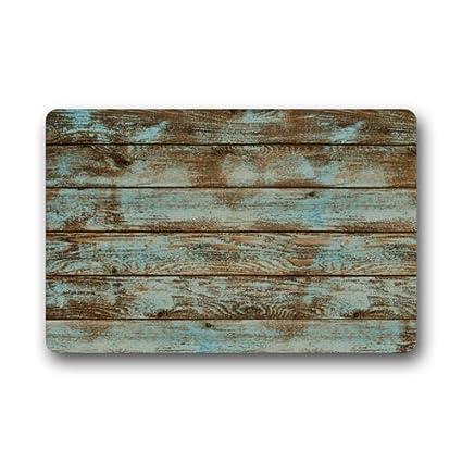 Amazon Mugod Rustic Old Barn Wood Floor Mats Living Room
