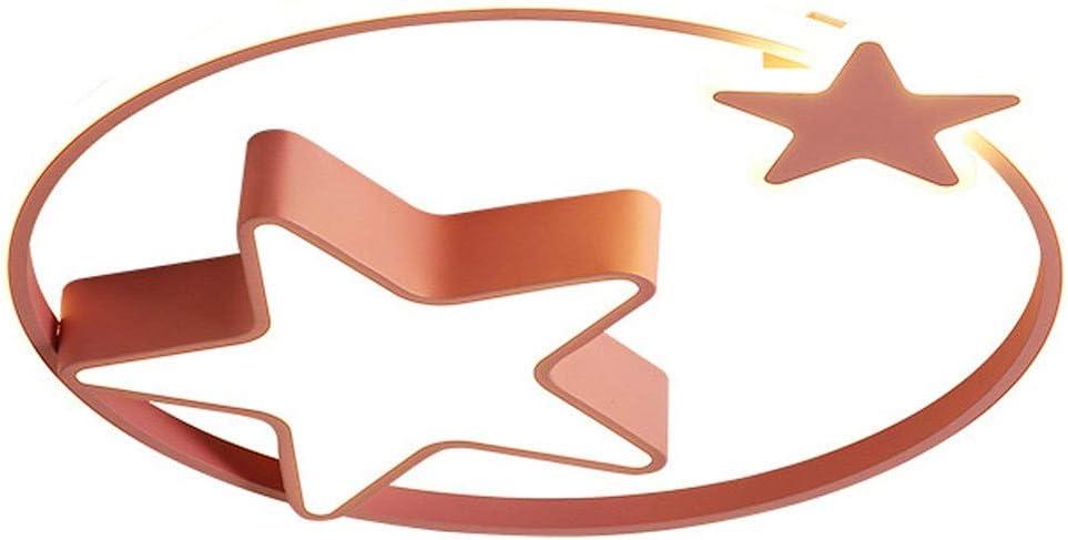 RXM Las Luces De Techo Moderno De La Sala Boy LED Muchacha De Los Niños Creativos Dormitorio Regulable Con Control Remoto [Potencia De Energía De A ++] (Color : Pink)