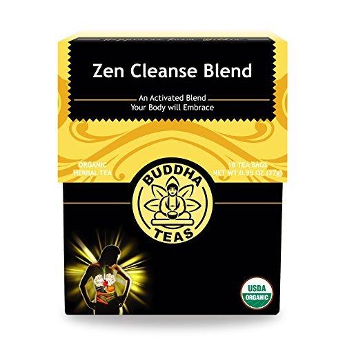 (Organic Zen Cleanse Blend Tea - Kosher, Caffeine-Free, GMO-Free - 18 Bleach-Free Tea Bags)