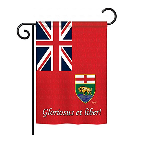 Breeze Decor - Manitoba Flags of the World - Everyday Canada Provinces Impressions Decorative Vertical Garden Flag 13
