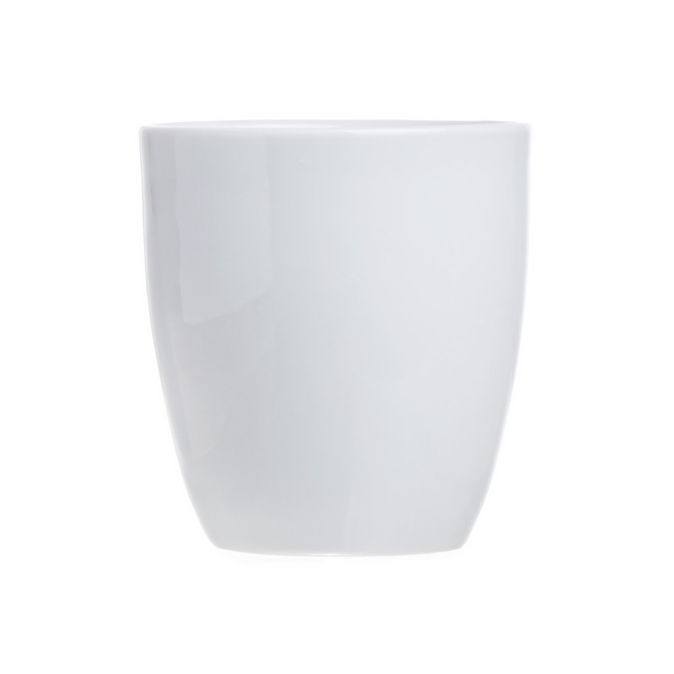 6-Piece Tea/Coffee Mugs (without Handle), White Porcelain, 9 Oz., Restaurant&Hotel Quality