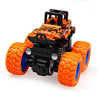 ThinIce Monster Truck Race Cars Toys Four-Wheel-Drive Inertia Stunt Car, 1:36 Toys Vehicles for 3-7 Year- Old Kids as Birthday Gift Orange Vehicle Toys
