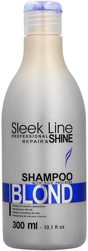 Stapiz Sleek Line Blond, Champú con Proteínas de Seda Rubio, 300ml