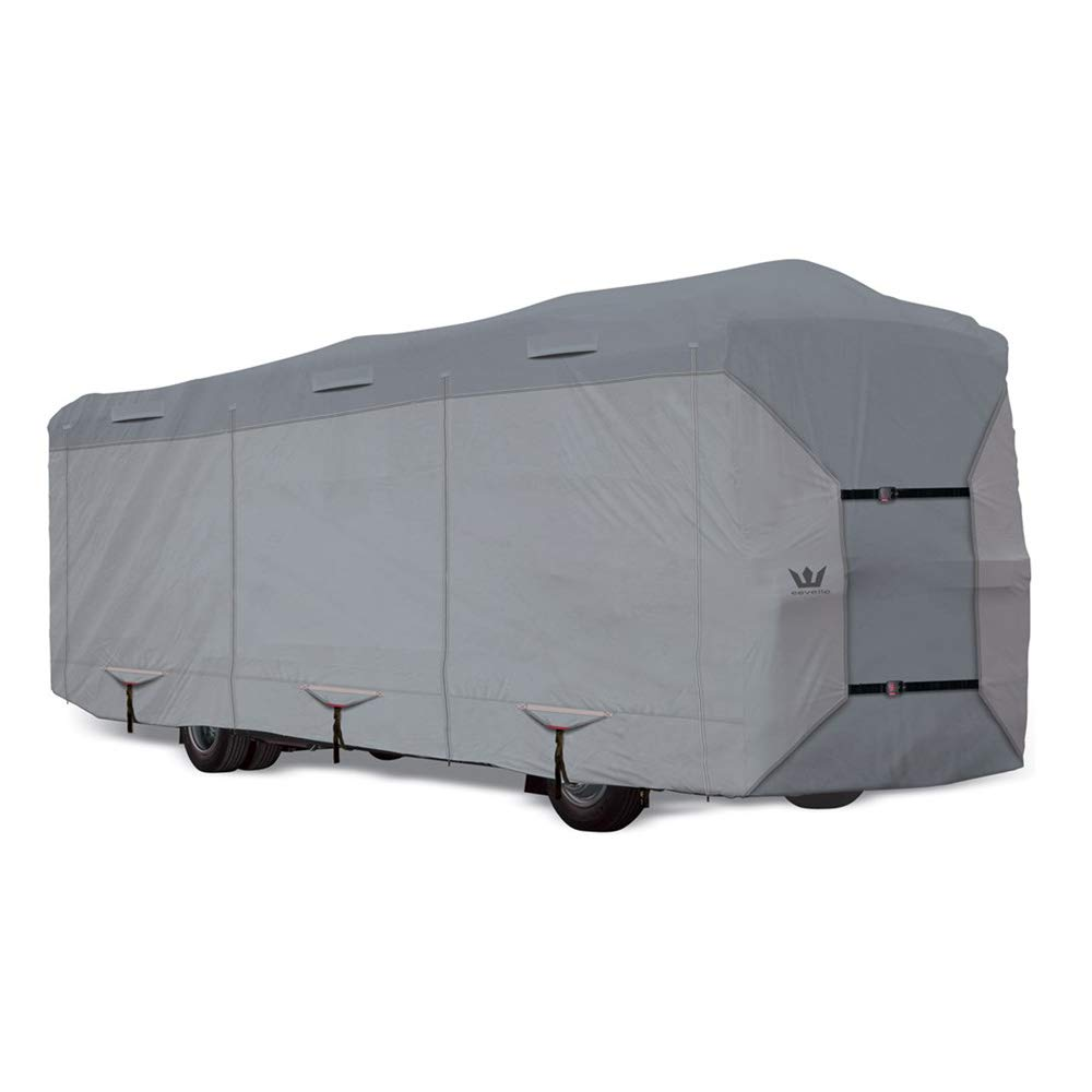S2 Expedition Class A RV Covers by Eevelle | Marine Grade Waterproof Fabric Roof | Tan and Gray by S2 Expedition