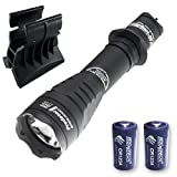 Armytek Predator Pro v3 XHP35 Hi Flashlight 1400 Lumens w/AWM-03 Magnetic Gun Mount & 2x FREE Eco-Sensa Premium CR123A Batteries