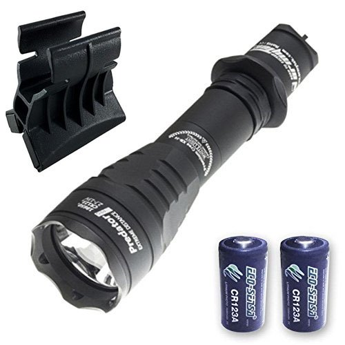 Armytek Predator Pro v3 XHP35 Hi Flashlight 1400 Lumens w/AWM-03 Magnetic Gun Mount & 2x FREE Eco-Sensa Premium CR123A Batteries by Armytek