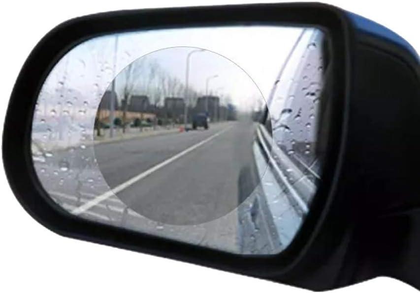 UniM 2PC Anti Fog Film Car Rearview Mirror Protective Film Anti-glare Waterproof Rainproof Rear View Mirror Window Clear Protective for Car Motorcycle
