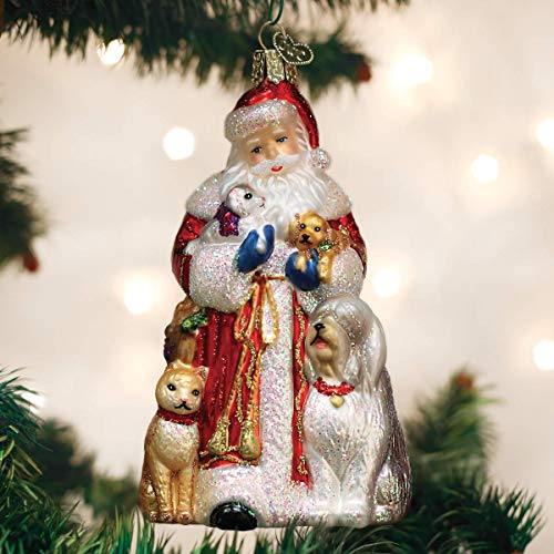 Old World Christmas Glass Blown Ornament Santa's