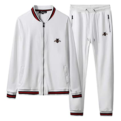 394f1ff60fa80 Amazon.com: ZWYY Men's Tracksuit, 2 Pieces Suits Activewear Causal ...