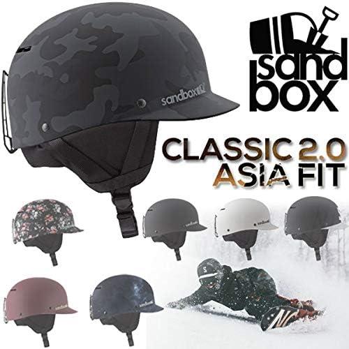 SANDBOX/サンドボックスヘルメット CLASSIC 2.0 ASIA FIT アジアンフィット クラシック スノーボード スケート スキー メンズ レディース キッズ 男女兼用 17-18 プロテクター 白い(MATTE) S/M