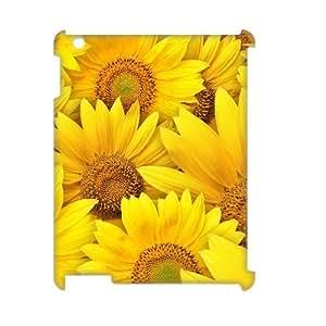 LZHCASE Diy Cover Custom Case Sunflower For IPad 2,3,4 [Pattern-1]