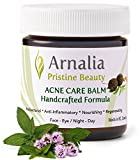 Cleansing Oil Cystic Acne - ARNALIA Acne Care Cream, 100% Pure Natural & Organic Wild Herbs, Face & Back Acne Spot Treatment, Cystic & Hormonal Acne, Teen Acne, Cold Sores, Tea Tree Oil Rapid Clear Balancing Cosmetic Balm 1.9oz