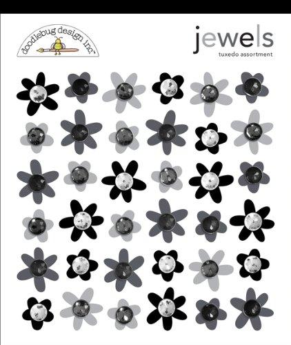 Doodlebug Adhesive Jewels - 36PK/Tuxedo
